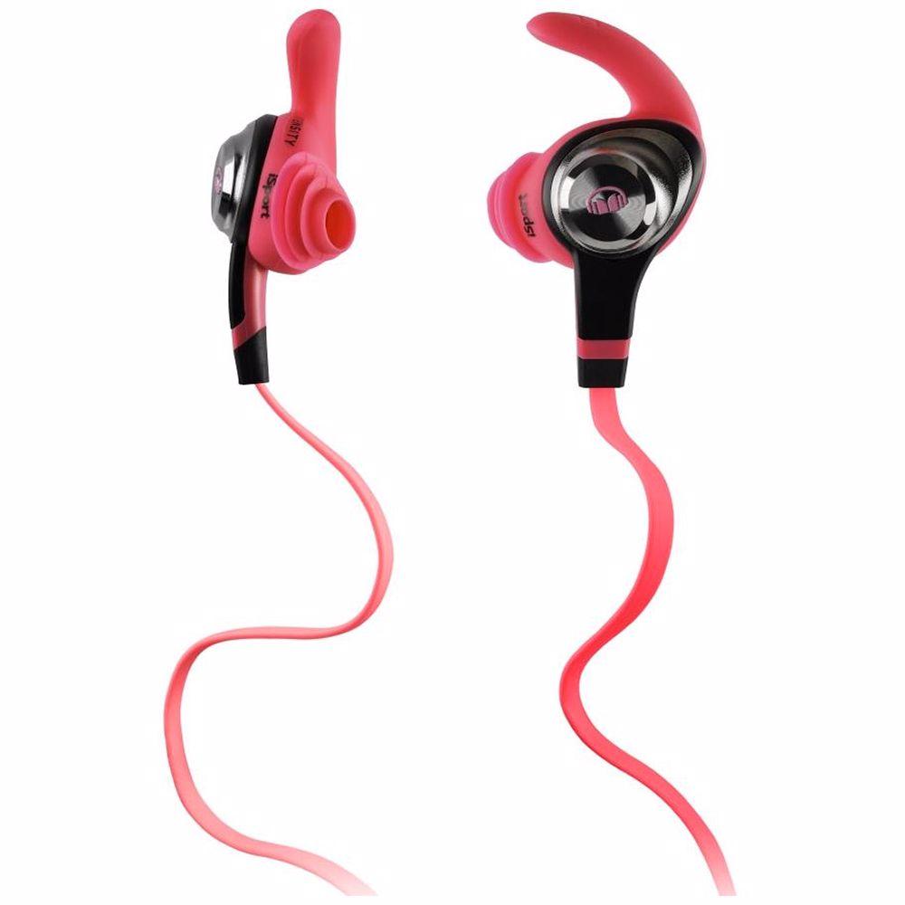 Monster hoofdtelefoon iSport Intensity (roze)